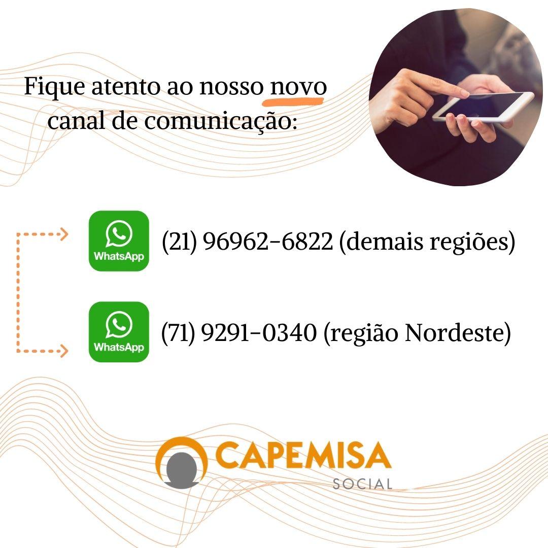 Atenção! Novo canal de comunicação Capemisa Social.